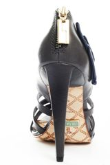 L.a.m.b. Rae Heel  Grey Leather in Blue (grey) - Lyst