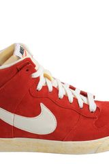 Nike Dunk High Ac Vintage Qs Varsity Red Sail - Lyst