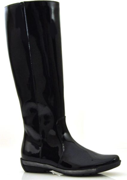 Aquatalia By Marvin K Wasabi Black Patent Tall Wedge