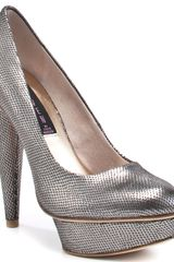 Steven By Steve Madden Mercyy - Pewter Metal - Lyst