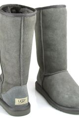 Ugg Classic Tall - Grey Sheepskin Boot - Lyst