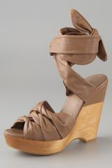 7 For All Mankind Sofie Platform Sandals with Ankle Tie - Lyst