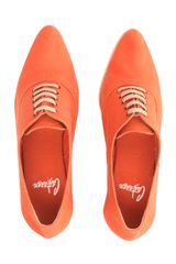 Castaner Point Toe Laceup Espadrilles in Orange - Lyst