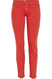 Current/Elliott The Stiletto Low-rise Cropped Skinny Jeans - Lyst