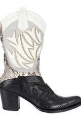 Gianni Barbato Calfskin and Python Low Boots - Lyst