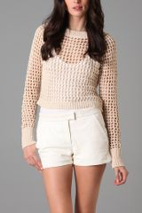 A.L.C. Crop Crochet Top - Lyst