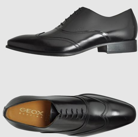 Geox Laced Shoes in Black for Men