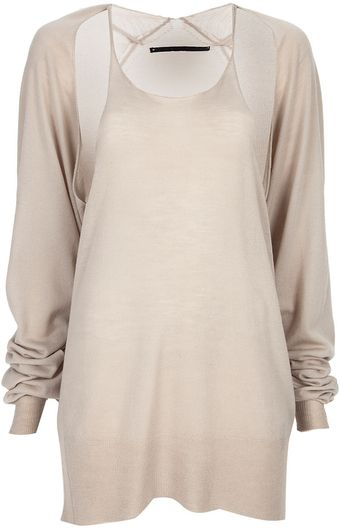 Haider Ackermann Split Sleeve Jumper - Lyst