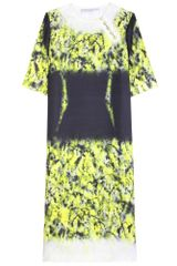 Proenza Schouler Printed Silk Twill Dress - Lyst
