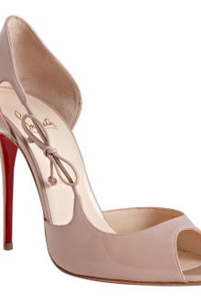 Christian Louboutin Nude Patent Leather Delico 100 Dorsay Pumps - Lyst