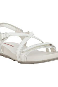 Prada Sport White Patent Leather Sandals - Lyst