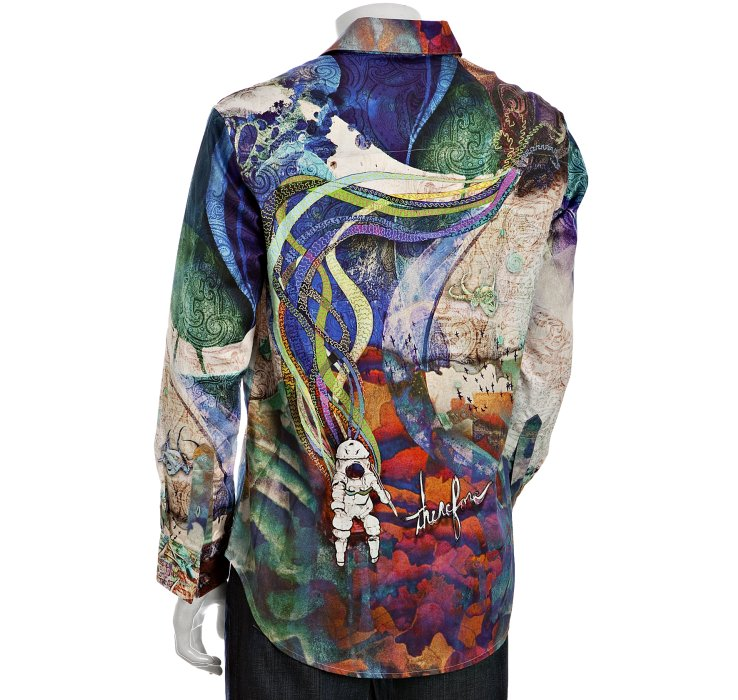 Robert Graham Limited Edition Blue Printed P Stephens Mc
