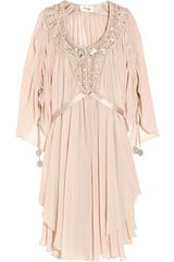 Temperley London Emberley Embellished Silk-georgette Kaftan - Lyst