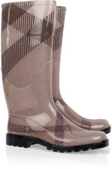 Burberry Checked Wellington Boots - Lyst