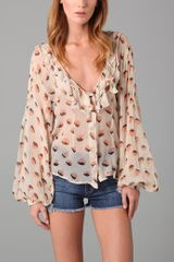 Winter Kate Print Cooper Blouse - Lyst