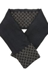 Haider Ackermann Handmade Woven Silk Scarf with Oxidised Silver Appliqué