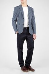 Marc By Marc Jacobs Petrol Blue Cotton Seersucker Blazer in Blue for Men (petrol) - Lyst