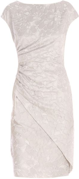 Max Mara Studio Corona Jacquard Dress in Gray (grey) - Lyst