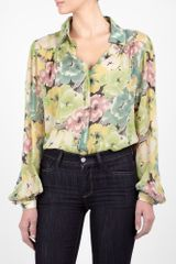 Winter Kate Tilapia Balloon Sleeve Silk Blouse - Lyst