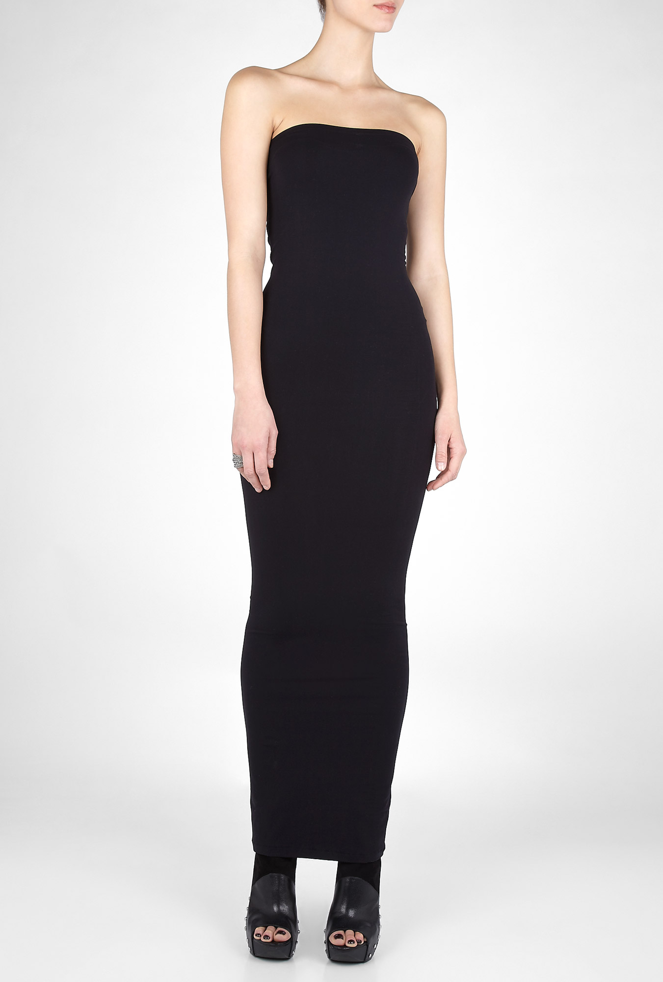 Acne Studios Black Long Tube Dress In Black Lyst