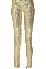 Balmain Sequin-embellised Skinny Pants