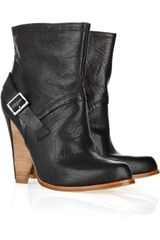 Belle By Sigerson Morrison Leather Lined-heel Ankle Boots - Lyst