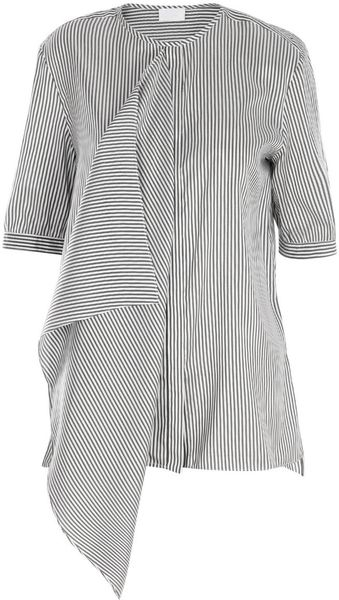 Cerruti Silk Ruffle Shirt in Black (grey) - Lyst