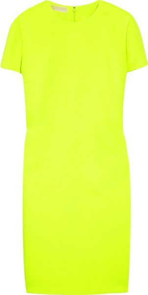Michael Kors Neon Woolblend Shift in Yellow - Lyst