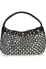 Sonia Rykiel Crystal-embellished Textured Leather Bag - Lyst