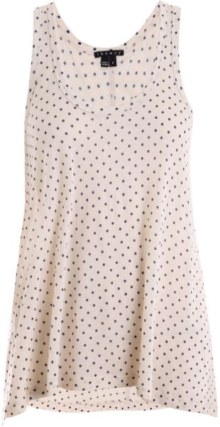 Theory Polka Dot Vest in Beige (navy) - Lyst