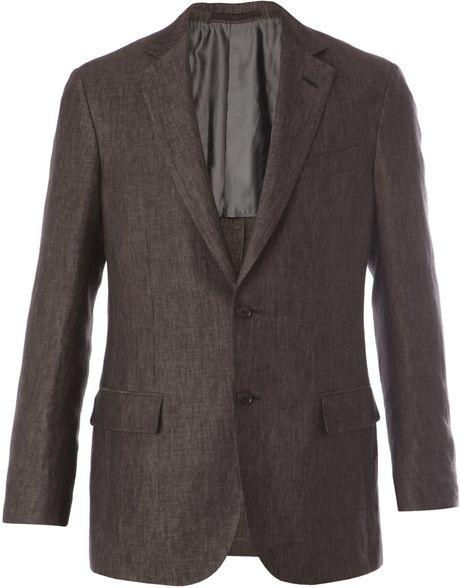 ermenegildo zegna linen travel jacket in brown for men lyst