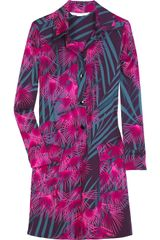 Diane Von Furstenberg Reine Printed Stretch-silk Shirt Dress - Lyst