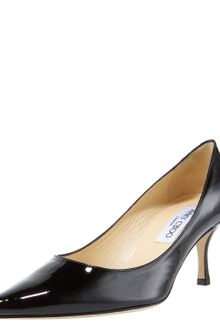 Jimmy Choo Patent Pointed-toe Pump, Black - Lyst