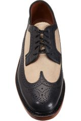 Florsheim By Duckie Brown The Brogue in Black for Men (navy) - Lyst