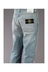 Stone Island Straight Leg Jean in Blue for Men - Lyst