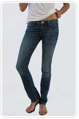 Current/Elliott Straight Leg Jeans in Royal Vintage Wash - Lyst