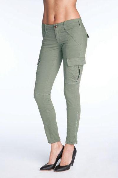 Original Women39s Green Byrnes Skinny Cargo Pants In Olive Drab