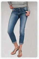 Joe's Jeans Cuffed Cigarette Jeans in Elizabeth Wash - Lyst