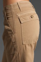 Current/elliott The Army Pant in Brown - Lyst