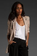 Elizabeth And James Distressed James Blazer in Beige (nude) - Lyst