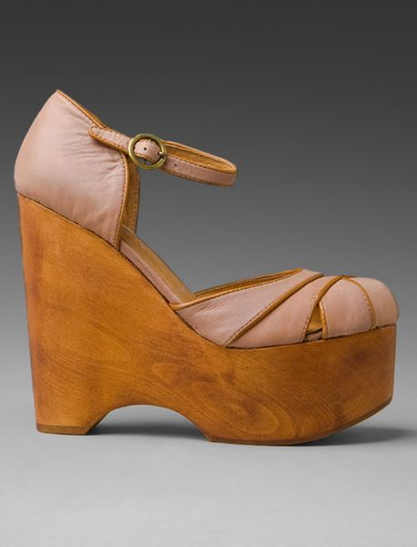Jeffrey Campbell Delilah Wedge In Brown Taupe Lyst