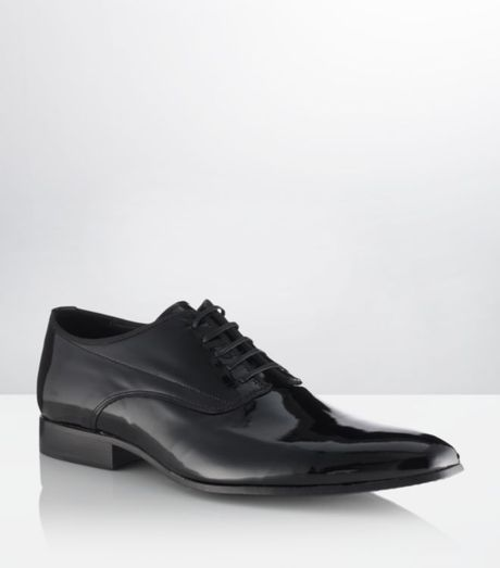 Kurt Geiger Buckland Patent Leather Shoe in Black for Men