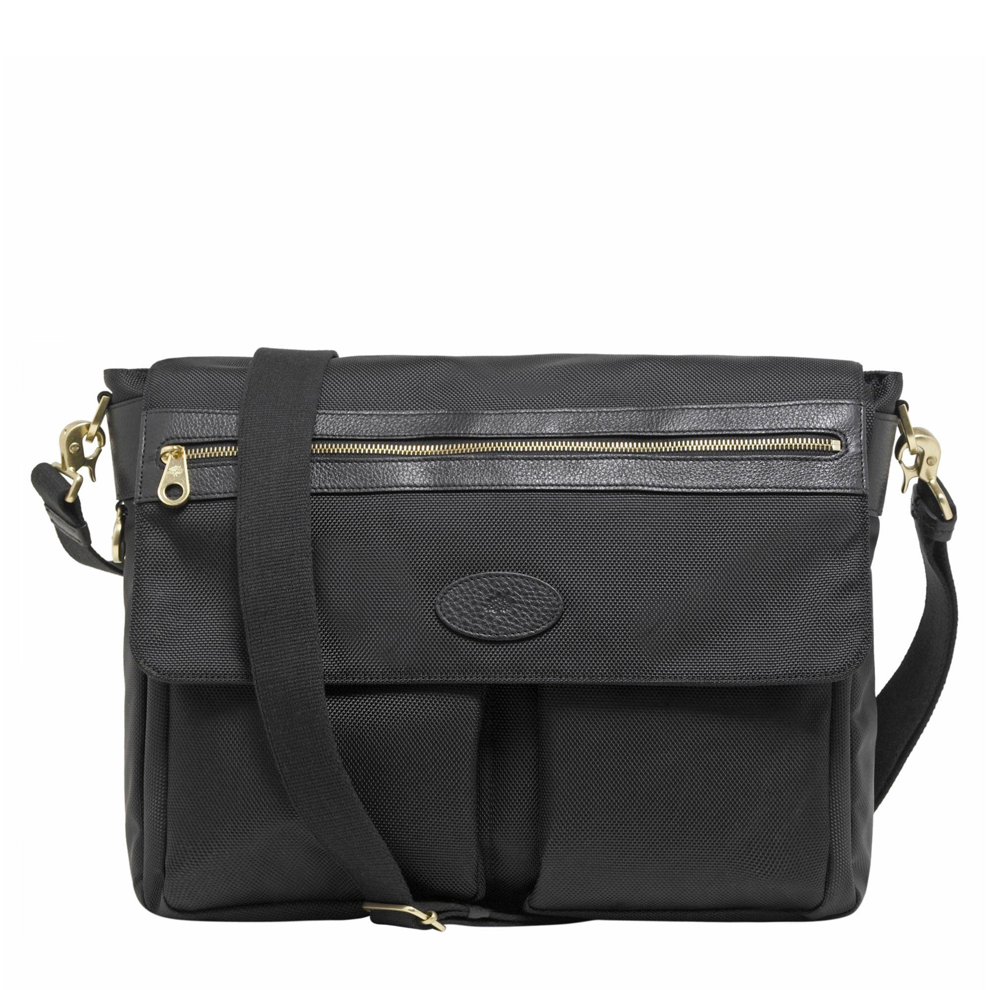 Mulberry Henry Nylon Messenger Bag Black in Black for Men - Lyst 65285594dd695