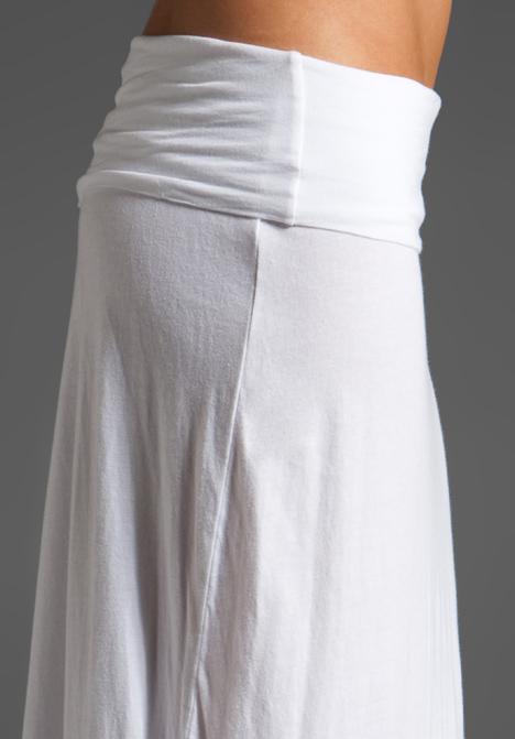 White maxi skirt jersey – Modern skirts blog for you