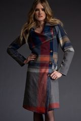Vivienne Westwood Red Label Giant Check Coat in Plaid - Lyst