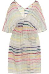 Zimmermann Whisper Striped Voile Kaftan in White - Lyst