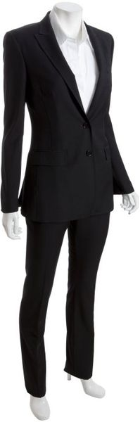 Dolce & Gabbana Black Wool 2-button Straight Leg Pant Suit - Lyst