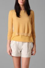 3.1 Phillip Lim Pullover Sweater with Overlay - Lyst
