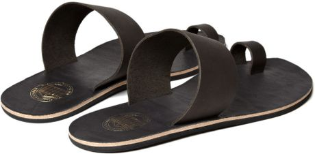 acne studios agra leather sandals in brown for