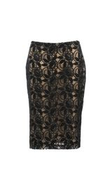 Alexander McQueen Viscose and Polyester Lace Skirt